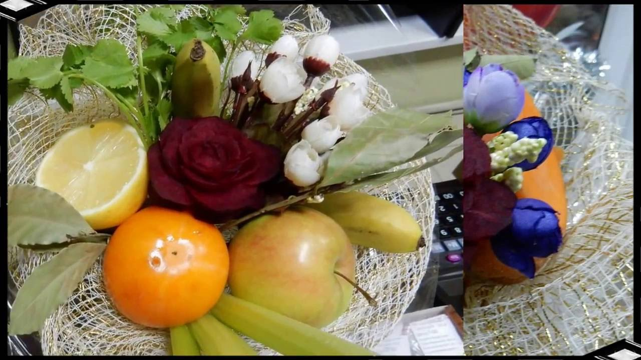 bouquet of fruits and vegetables diy best home made gift idea
