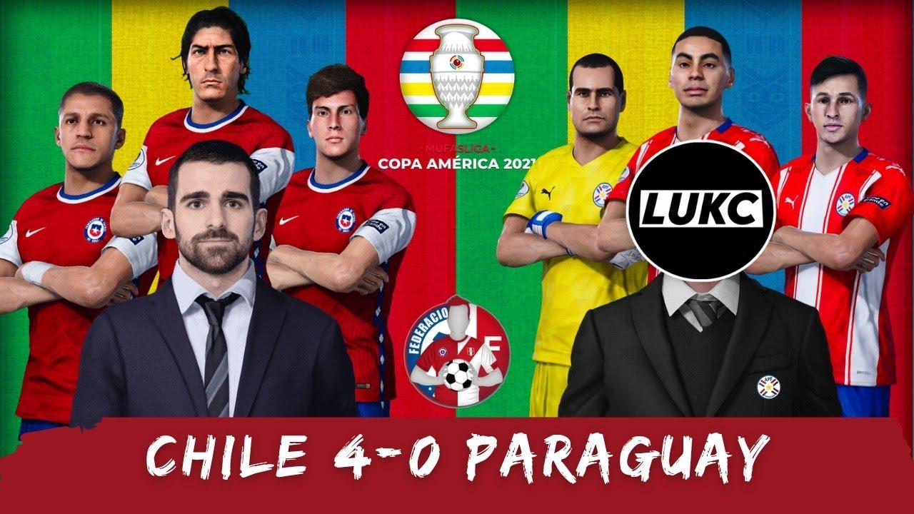 Chile 4-0 Paraguay   Copa América #MufasLiga   Resumen (Debut y asistencia de Gonzalo Tapia)