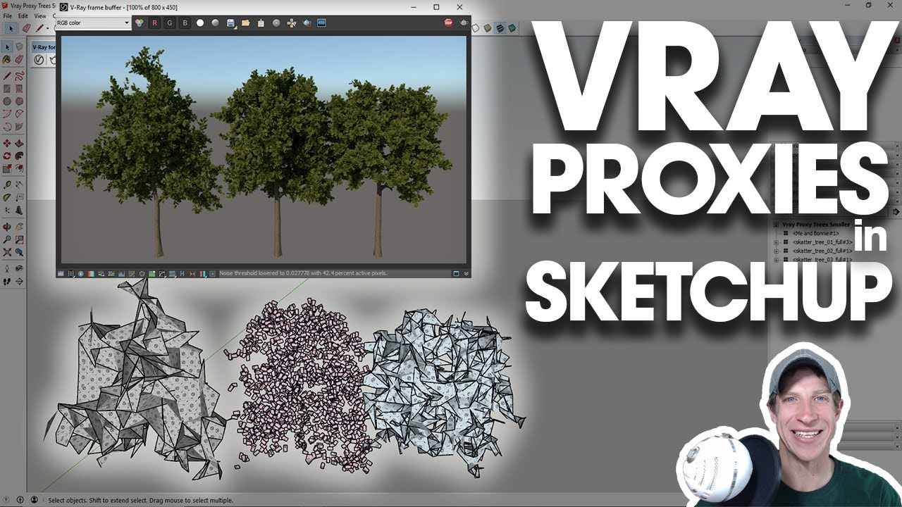 Getting Started Rendering in Vray (EP 7) - RENDERING WITH VRAY PROXIES in  SketchUp