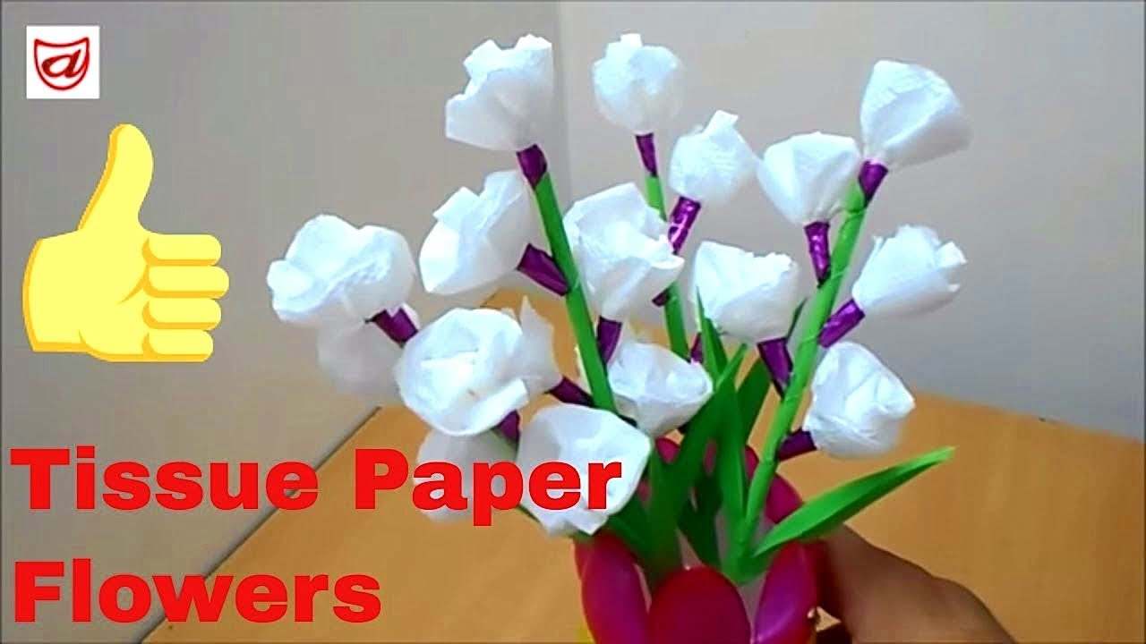 Tissue Paper Crafts Ideas Diy Creative Home Decor Craft From Crepe Paper Youtube