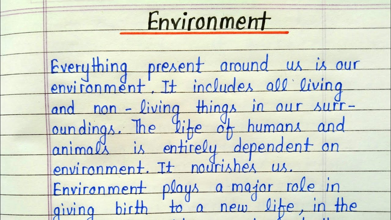 English essays on environment good thesis for pride and prejudice