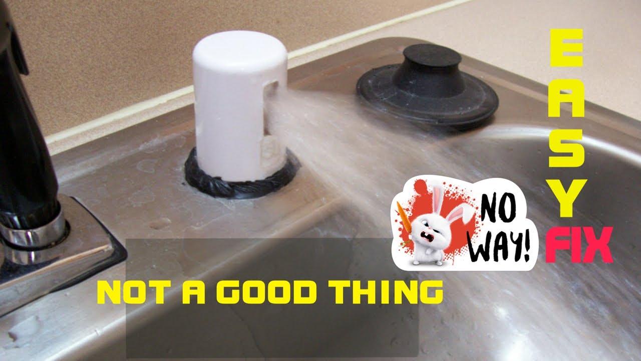 dishwasher leaking water at air gap quick fix