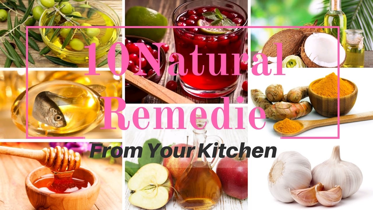 10 Natural Remedies From Your Kitchen | BEAUTY TIPS - YouTube