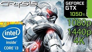 Crysis 1: GTX 1050 ti - i3 6100 - 1080p - 1440p - 4K