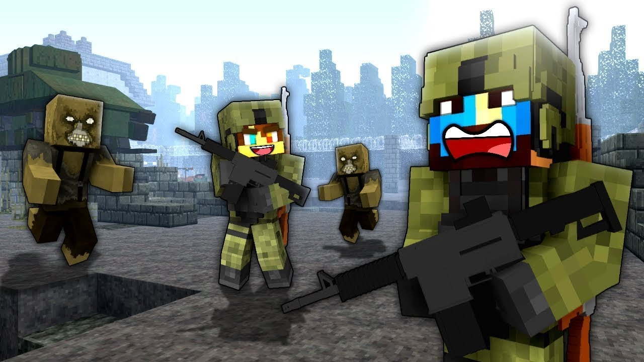 THE TRAINING BASE! (SECRET MILITARY BASE!) - Minecraft