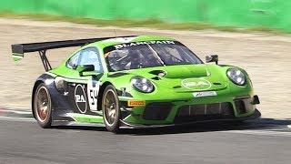 Porsche 991.2 GT3 R 2019 Flat-6 Sound at Monza Circuit!