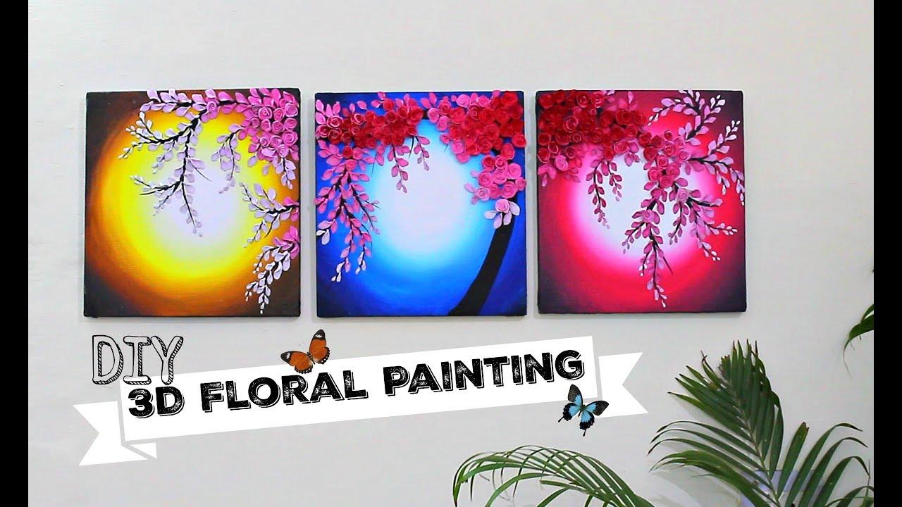 3D Floral Painting For Wall Decor/Shilpkar Art
