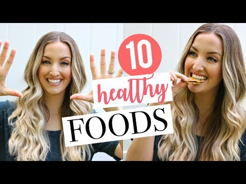 10 HEALTHY FOODS I CAN'T LIVE WITHOUT   Top 10 Health Foods   Dietitian's Favorites