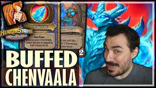 NEW CHENVALLA = BUY EVERY ELEMENTAL! - Hearthstone Battlegrounds