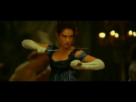 Pride and prejudice and zombies // The Bennet sisters fight clip