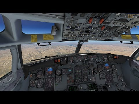 Approach into Palm Springs, CA with IXEG B737-300
