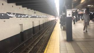 IND Eighth Avenue Line: R160 F Train [via 8th Ave] @ 42nd Street-PABT [Brooklyn Bound]
