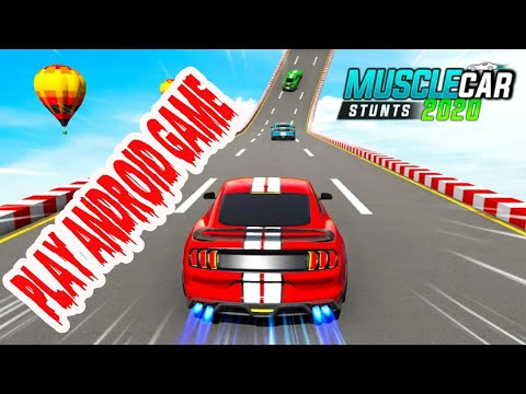 Muscle Car game Stunts 2020 - Mega Stunt Ramp Simulator I  Game video