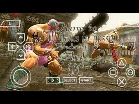 How To Use Weapons Items In Tekken 6 Ppsspp Android Or Pc Youtube