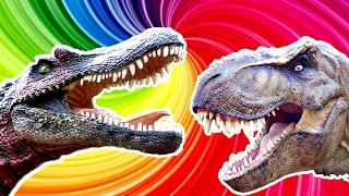 ДИНОЗАВРЫ Тиранозавр РЕКС vs Спинозавр  Обзор для Детей Детское Видео про Динозавров Lion boy