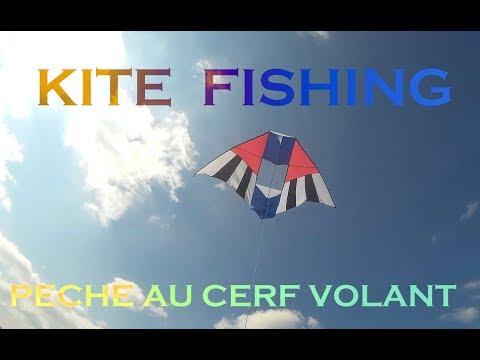 TEST CERF VOLANT Kite Fishing, Pêche En Mer. ( 1 ère Partie)