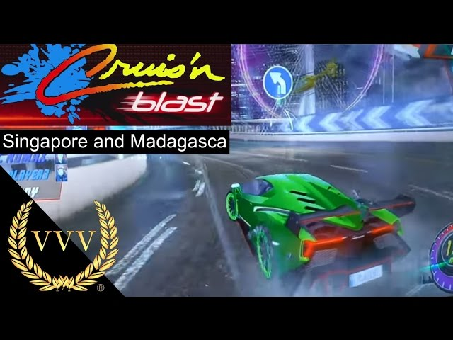 Crusin Blast Arcade Gameplay Singapore and Madagasca