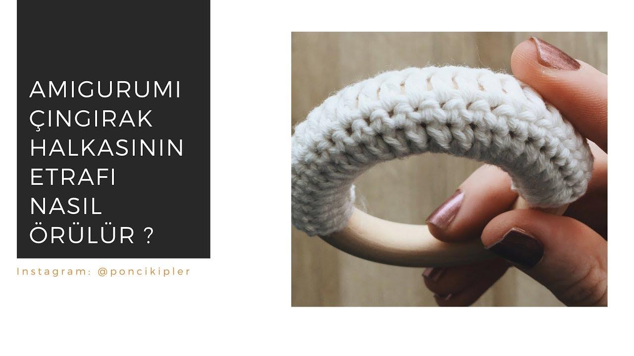 Amigurumi Çıngırak Halkasının Etrafı Nasıl Örülür? / Amigurumi Rattle Ring Tutorial (FREE)