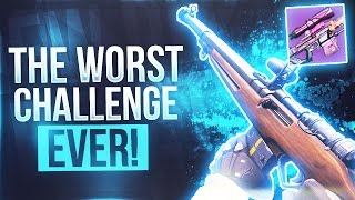 Destiny THE WORST CHALLENGE I HAVE DONE AGAIN - Double Sniper Headshot ONLY Challenge Again