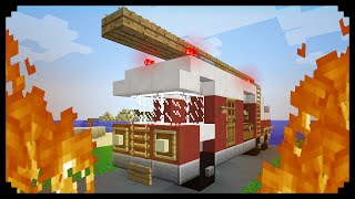 ✔ Minecraft: How to make a Fire Truck