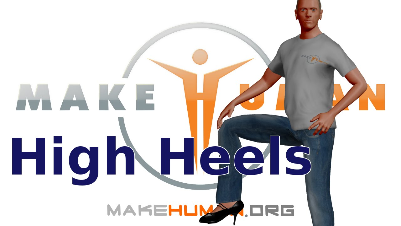 Makehuman Pose Feet For High Heels Youtube
