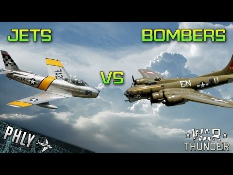 War Thunder Jets Vs Bombers! War Thunder Gameplay!