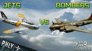 War Thunder Jets Vs Bombers! War Thunder Gameplay!