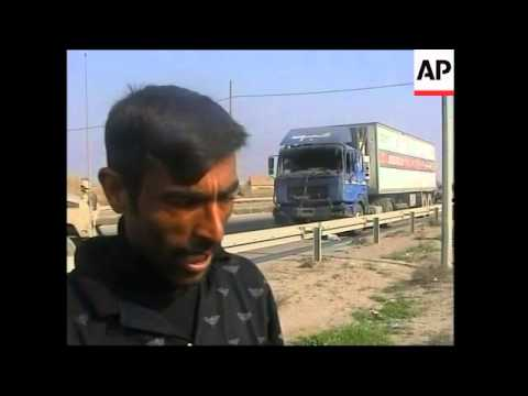 Aftermath of attack on Saudi convoy carrying aid for Iraq