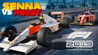 F1 2019 Gameplay: Ayrton Senna Vs Alain Prost