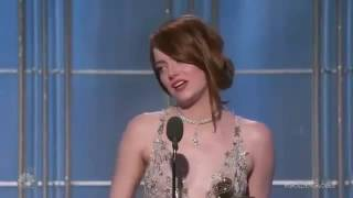 EMMA STONE GOLDEN GLOBE 2017 SPEECH -  best part