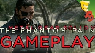 metal gear solid 5 gameplay trailer the phantom pain xbox one footage