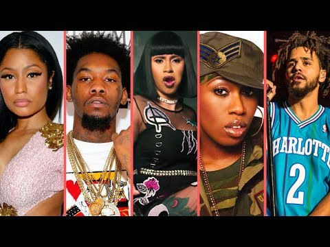 "Rappers React To ""Cardi B Bodak Yellow Reaching No. 1 On Billboard"" (Nicki Minaj J Cole Offset Remy)"
