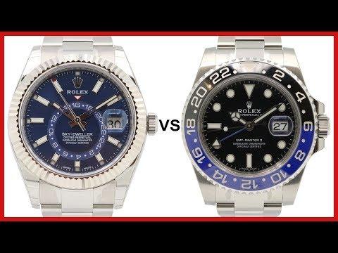 ▶ Rolex Sky-Dweller Blue & Rolex GMT-Master II Batman COMPARISON - 326934 VS 116710BLNR