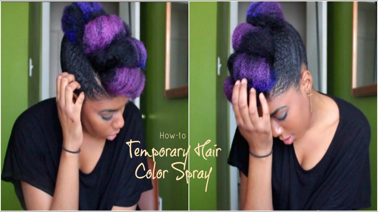 How To Temporary Color Hair Spray Youtube