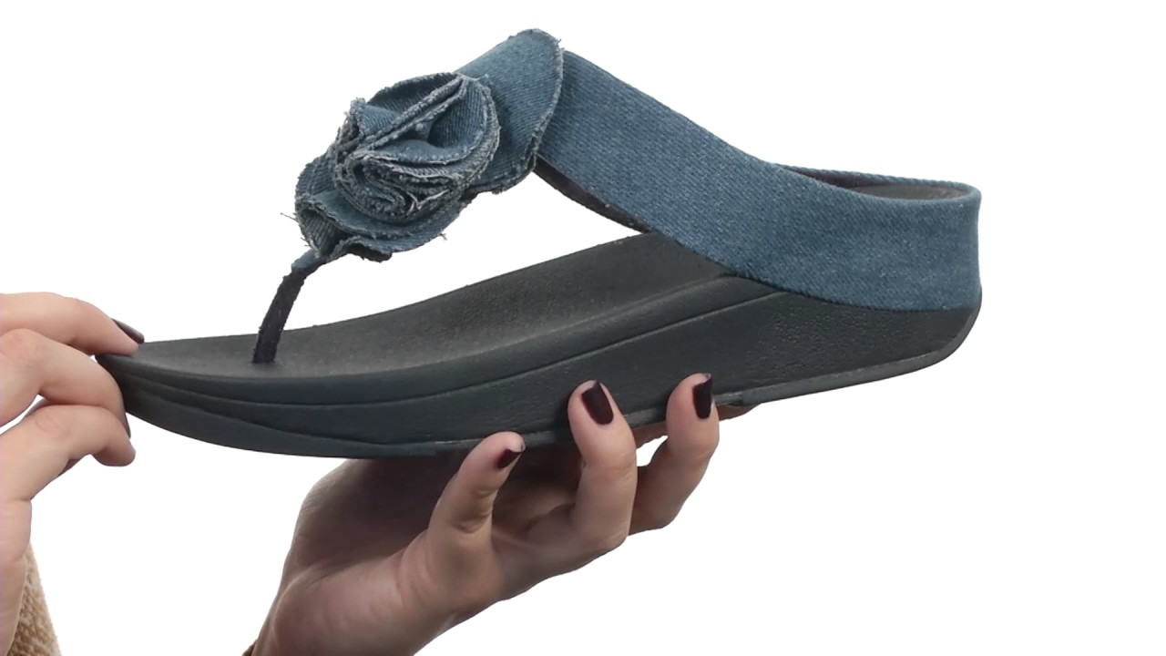 5cb46c60e91c FitFlop Florrie Toe-Post SKU 8850461 - YouTube
