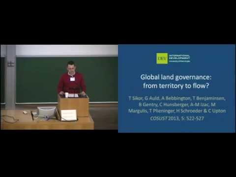 Thomas Sikor: Global land governance