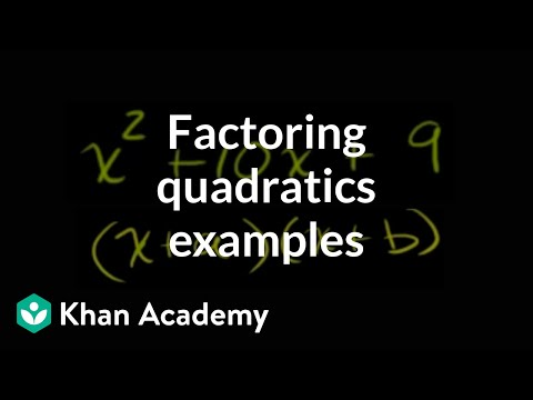 More examples of factoring quadratics with...
