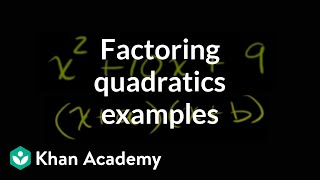 More examples of factoring quadratics with a leading coefficient of 1 | Algebra II | Khan Academy