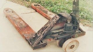 Restoration forklift truck old broken | Restore lifting mach...