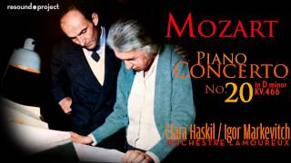 Mozart. Piano Concerto 20 - Haskil, Markevitch 1960