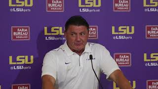 FULL Ed Orgeron press conference after LSU beats Northwestern State