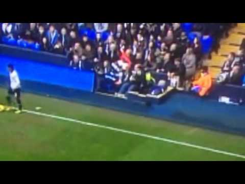 """United's Evra gets """"goosed"""" by fan"""