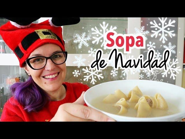 SOPA DE GALETS RELLENOS | Menú Navidad Fácil y Barato