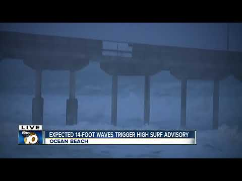 Strong, high waves wreak havoc at local beaches