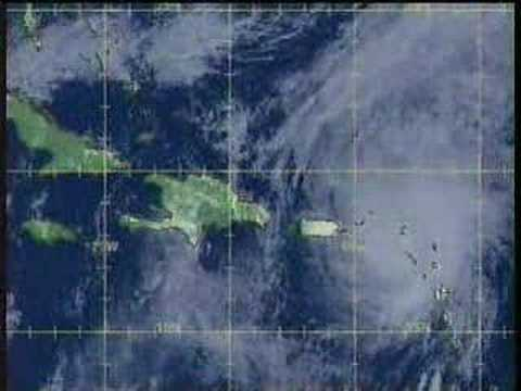 TWC Hurricane Lenny coverage 1999: Clip 6