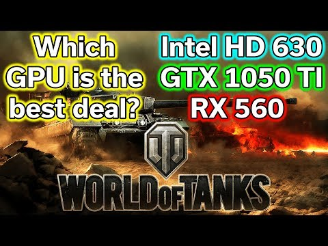 World of Tanks - HD 630 vs RX 560 vs GTX 1050 TI - Benchmark - i5-7400
