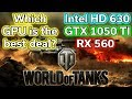 World of Tanks - HD 630 vs RX 560 vs GTX 1050 TI - Benchmark - i5-7400