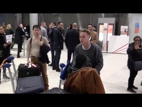 EXCLUSIVE : Ben Hardy arriving in Paris via G airport