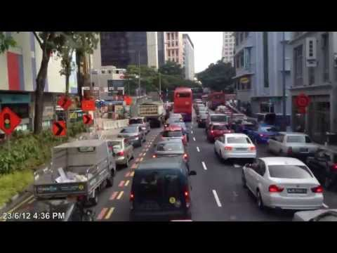 Time Lapse @ Singapore Bus Service 65 From Tampines Interchange to Harbour Front