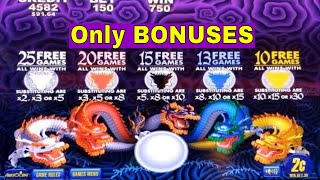 Baixar 5 Dragons,Timber Wolf Deluxe, Buffalo Deluxe and Gold Pays Slot Machine Bonuses Won! Live Slot Play